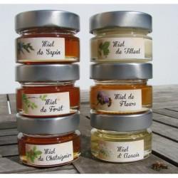 Lot de 6 pots de Miel d'Alsace -...